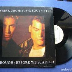 Discos de vinilo: LETERS,MICHIELS & SOULSISTER MAXI SPAIN 1990 PDELUXE. Lote 62027272