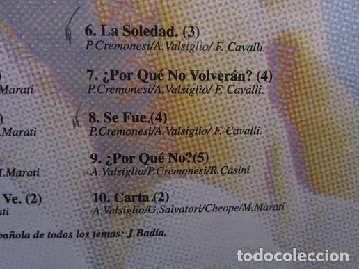 Discos de vinilo: Laura Pausini 1994 gente la soledad por que no el no esta por ti carta y+ wea mtm Lp T27 VG - Foto 3 - 62029344