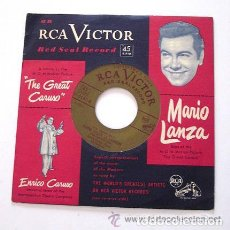 Discos de vinilo: THE GREAT CARUSO - MARIO LANZA. PRINTED IN USA. VINILO COLOR ROJO. RCA. Lote 62043596