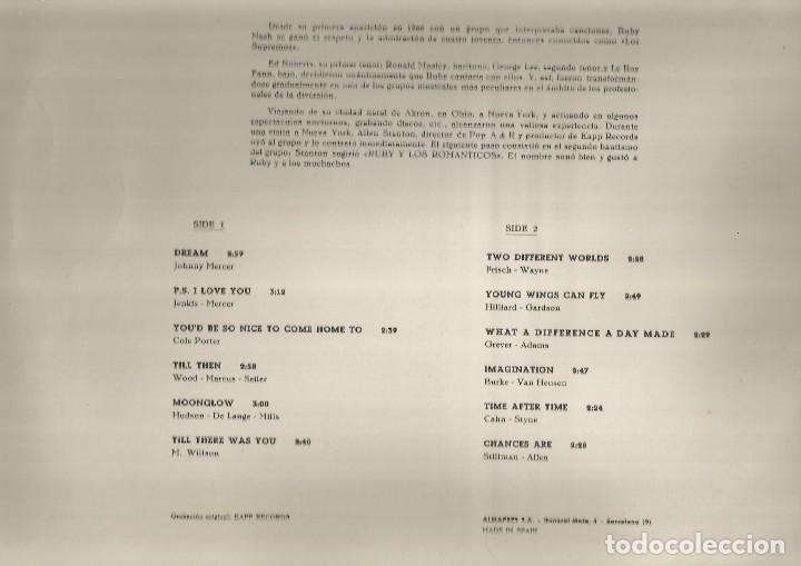 Discos de vinilo: RUBY AND THE ROMANTICS, TILL THEN, SU LP ESPAÑOL ORIGINAL - Foto 2 - 62054812