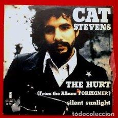 Discos de vinilo: CAT STEVENS (SINGLE ISLAND 1973) (NUEVO) THE HURT - SILENT SUNLIGHT. Lote 62057944