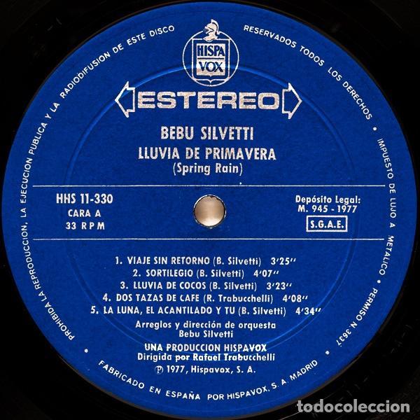 Discos de vinilo: Bebu Silvetti – Lluvia De Primavera - LP - Foto 5 - 62066756