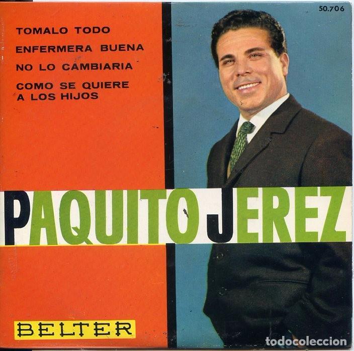 PAQUITO JEREZ / TOMALO TOMALO + 3 (EP 1963) (Música - Discos de Vinilo - EPs - Flamenco, Canción española y Cuplé)