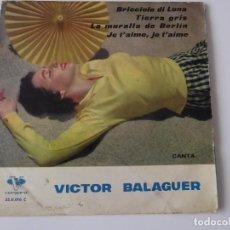 Discos de vinilo: VICTOR BALAGUER - BRICCIOLE DI LUNA. Lote 62073368