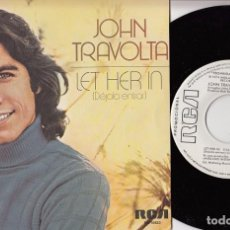 Discos de vinilo: JOHN TRAVOLTA - DEJALA ENTRAR - SPANISH SINGLE 45 PROMO SPAIN 1976. Lote 62079224