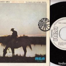 Disques de vinyle: DAVE & SUGAR THE DOOR IS ALWAYS OPEN R@RE SPANISH SINGLE 45 PROMO SPAIN 1975 COUNTRY. Lote 62081736