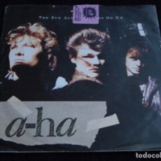 Discos de vinilo: A-HA ( THE SUN ALWAYS SHINES ON T.V. - DRIFTWOOD ) 1985 - GERMANY SINGLE45 WARNER BROS RECORD. Lote 62082720