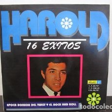 Discos de vinilo: HAROLD 16 EXITOS EPOCA DORADA DEL TWIST Y EL ROCK AND ROLL 1992 VINILO LP T28 VG+. Lote 62084376