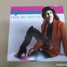 Discos de vinilo: KYM SIMS (SN) TAKE ME ADVICE AÑO 1992. Lote 62087056