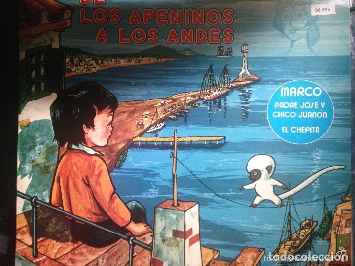 ANTIGUO LP CUENTO MARCO DE LOS APENINOS A LOS ALPES (Música - Discos - LPs Vinilo - Música Infantil)