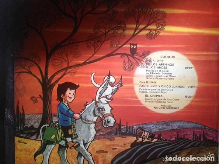 Discos de vinilo: ANTIGUO LP Cuento MARCO DE LOS APENINOS A LOS ALPES - Foto 2 - 62087504
