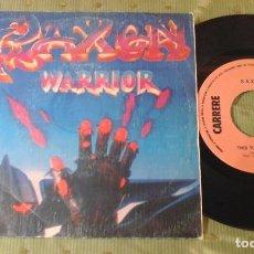 Discos de vinilo: SAXON WARRIOR SPAIN 1983 SINGLE. Lote 62087724