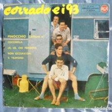 Discos de vinilo: ANTIGUO EP CORRADO EI 93 - PINOCCHIO - COCCINELLA - RCA. Lote 62088036