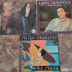 Discos de vinilo: JULIAN GRANADOS LOTE 3 SINGLES . Lote 62092340