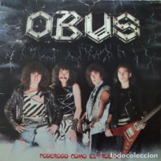 Discos de vinilo: OBUS PODEROSO COMO EL TRUENO LP NUEVO 1982...BARON ROJO SANTA PANZER SOBREDOSIS. Lote 62099976