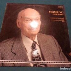 Discos de vinilo: FEDERICO MOMPOU - CANCIONES (CARMEN BUSTAMANTE, SOPRANO - MANUEL GARCIA MORANTE, PIANO) LP - BELTER. Lote 62120356