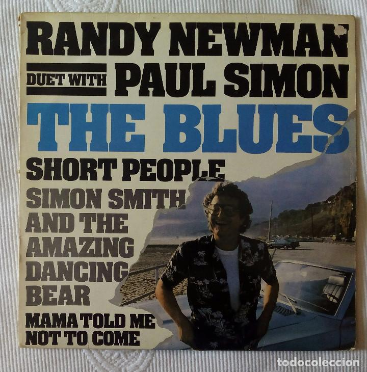 RANDY NEWMAN WITH PAUL SIMON, THE BLUES + SHORT PEOPLE + 2 (WARNER) MAXI SINGLE USA (Música - Discos de Vinilo - Maxi Singles - Pop - Rock Extranjero de los 70)