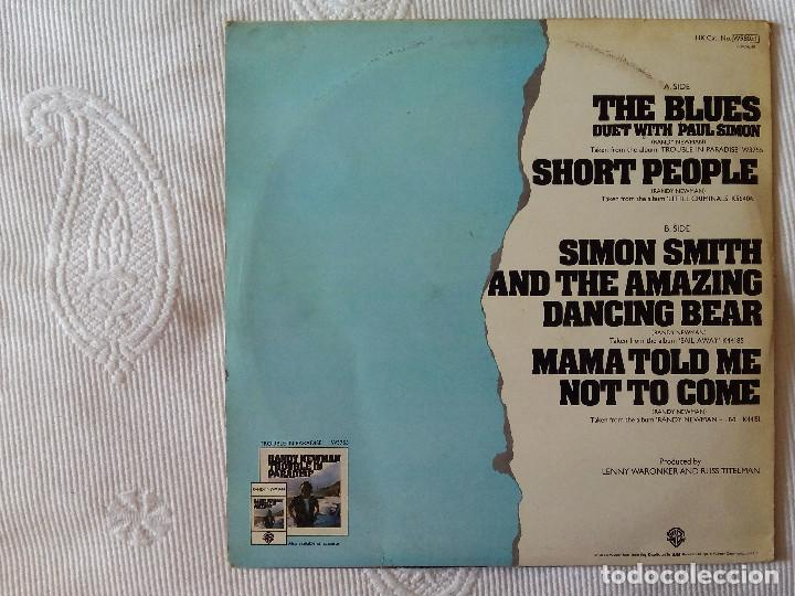 Discos de vinilo: RANDY NEWMAN WITH PAUL SIMON, THE BLUES + SHORT PEOPLE + 2 (WARNER) MAXI SINGLE USA - Foto 2 - 62149760