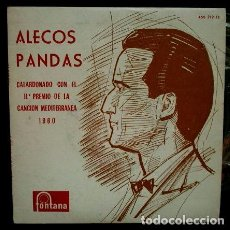 Discos de vinilo: ALECOS PANDAS (EP 1960) II FESTIVAL DE LA CANCION MEDITERRANEA 1960 - SEGUNDO PREMIO. Lote 62155640