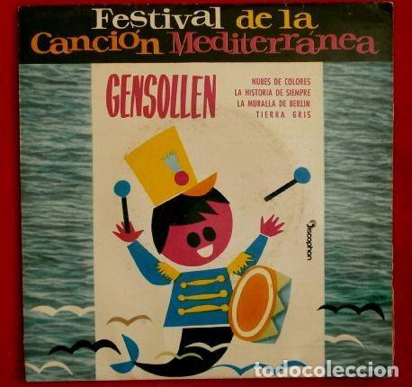 FESTIVAL DE LA CANCION MEDITERRANEA (EP 1962) NUBES DE COLORES - GENSOLLEN -EP.DISCOPHON (Música - Discos de Vinilo - EPs - Otros Festivales de la Canción)