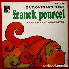 Discos de vinilo: (SINGLE 1968 EUROVISION 68) CONGRATULATIONS / LA LA LA - FRANCK POURCEL Y SU GRAN ORQUESTA. Lote 62158724