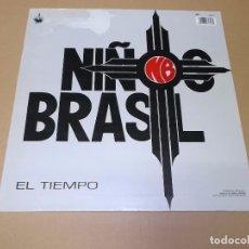 Discos de vinilo: NIÑOS DEL BRASIL (MX) AMOR Y ESPINAS + EL TIEMPO AÑO 1990. Lote 62169772