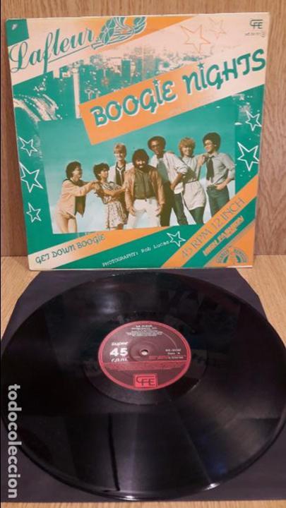 LA FLEUR. BOOGIE NIGHTS. SPECIAL REMIX. MAXI SG / CFE - 1983 / MBC. ***/*** (Música - Discos de Vinilo - Maxi Singles - Jazz, Jazz-Rock, Blues y R&B)