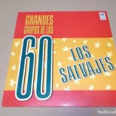 Discos de vinilo: LOS SALVAJES (LP) GRANDES GRUPOS DE LOS 60 AÑO 1988. Lote 62181280