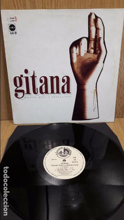 GITANA. TALKIN BOUT A REVOLUTION. MAXI SG / BLANCO Y NEGRA - 1995 / MBC. ***/*** (Música - Discos de Vinilo - Maxi Singles - Techno, Trance y House)