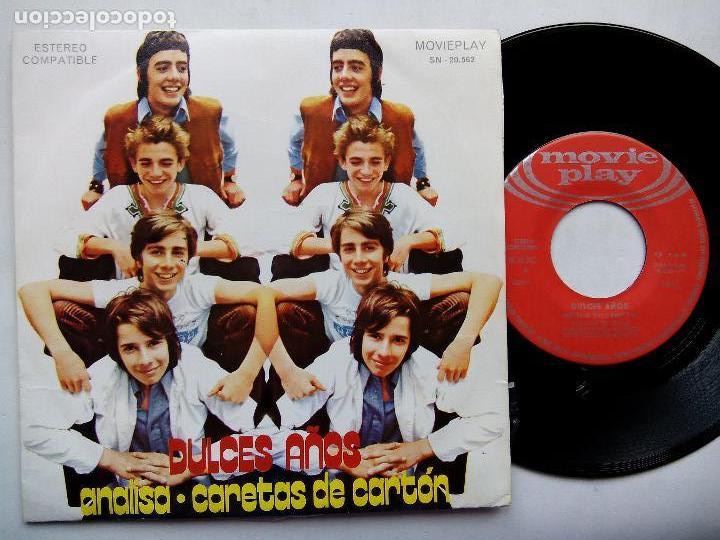 DULCES SUEÑOS. ANALISA. SINGLE MOVIEPLAY SN-20562. ESPAÑA 1971. CARETAS DE CARTÓN. LOS PEKENIKES. (Música - Discos - Singles Vinilo - Grupos Españoles de los 70 y 80)