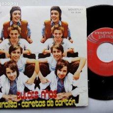 Discos de vinilo: DULCES SUEÑOS. ANALISA. SINGLE MOVIEPLAY SN-20562. ESPAÑA 1971. CARETAS DE CARTÓN. LOS PEKENIKES.. Lote 62196932