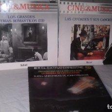 Discos de vinilo: CINE BANDAS SONORAS LOTE COLECCION DE 3 LPS DE DISTINTOS ESTILOS Y AUTORES, ENTRAN TODOS.. Lote 62200528