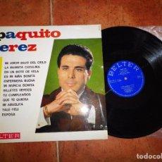 Discos de vinilo: PAQUITO JEREZ Y SU RITMO MODERNO LP VINILO DEL AÑO 1966 BELTER MI AMOR BAJO EL CIELO MI ABUELITA. Lote 62211080