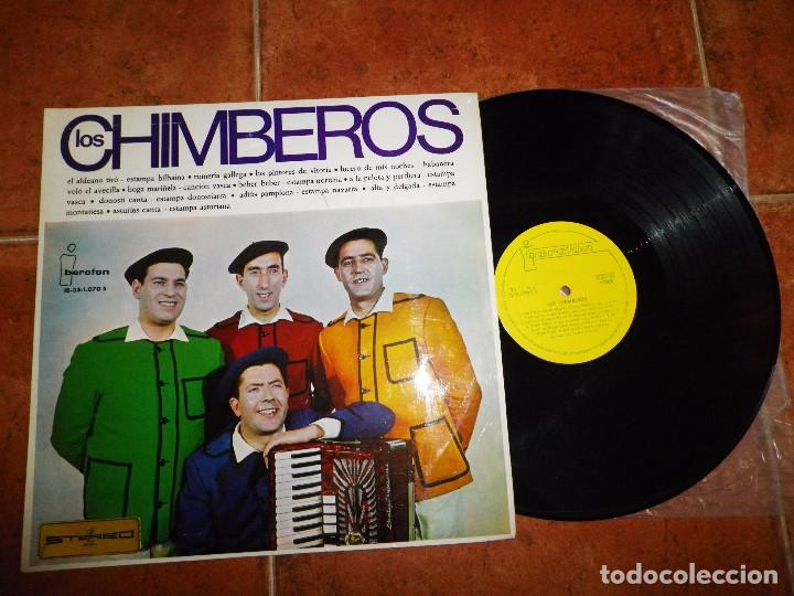 LOS CHIMBEROS LP VINILO DEL AÑO 1966 EL ALDEANO TIRO / ESTAMPA BILBAINA CONTIENE 12 TEMAS (Música - Discos - LP Vinilo - Grupos Españoles 50 y 60)
