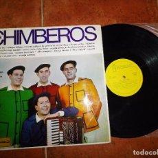 Discos de vinilo: LOS CHIMBEROS LP VINILO DEL AÑO 1966 EL ALDEANO TIRO / ESTAMPA BILBAINA CONTIENE 12 TEMAS. Lote 62211696