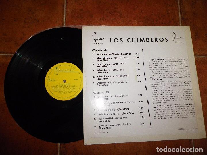 Discos de vinilo: LOS CHIMBEROS LP VINILO DEL AÑO 1966 El aldeano tiro / Estampa Bilbaina CONTIENE 12 TEMAS - Foto 2 - 62211696