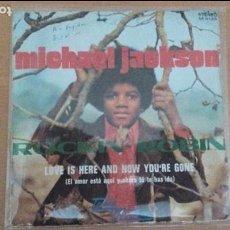 Discos de vinilo: MICHAEL JACKSON ROCKIN' ROBIN SINGLE SPAIN 1972. Lote 62213512