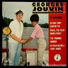 Disques de vinyle: GEORGES JOUVIN ET DOMINIQUE (EP. FRANCE) (TWIST) JE SUIS TROP LOIN DE TOI - TES TENDRES ANNEES. Lote 63562586