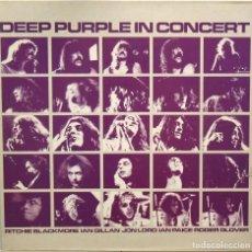 Discos de vinilo: DEEP PURPLE IN CONCERT DOBLE LP CARPETA ABIERTA EMI ELECTROLA 1980. Lote 62230780