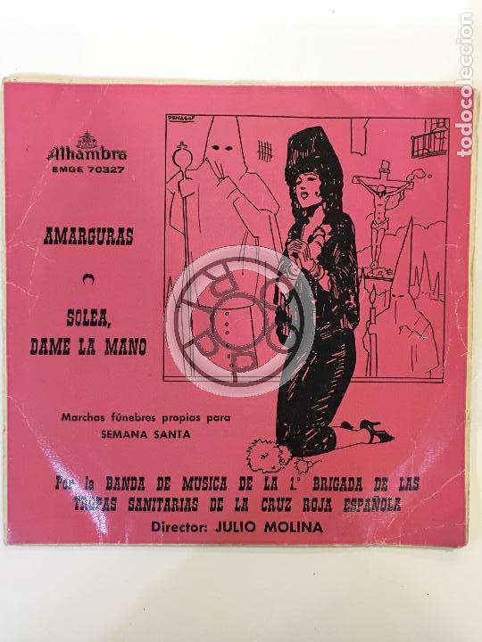 MARCHAS FUNEBRES PROPIAS PARA SEMANA SANTA, DIRECTOR JULIO MOLINA, EMGE 70327, ALHAMBRA ........ (Música - Discos - Singles Vinilo - Clásica, Ópera, Zarzuela y Marchas)