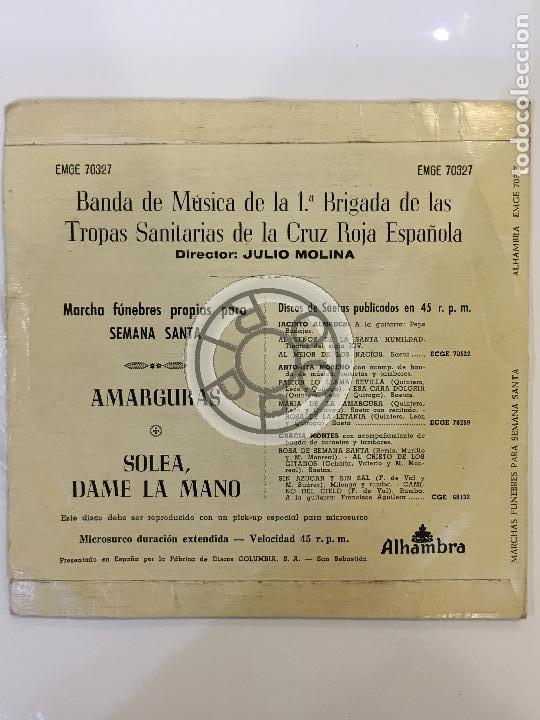 Discos de vinilo: MARCHAS FUNEBRES PROPIAS PARA SEMANA SANTA, DIRECTOR JULIO MOLINA, EMGE 70327, ALHAMBRA ........ - Foto 2 - 62245744