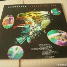 Discos de vinilo: LIQUORICE LP LISTENING CAP 4AD ORIGINAL UK 1995 + FUNDA INTERIOR. Lote 62264700