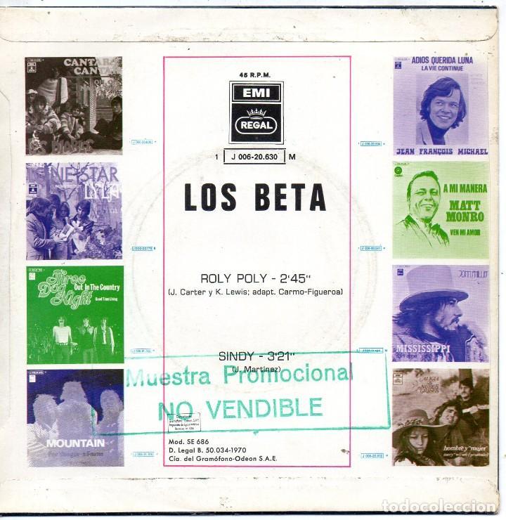 Discos de vinilo: BETA, LOS, SG, ROLY POLY + 1, AÑO 1970 - Foto 2 - 62265000