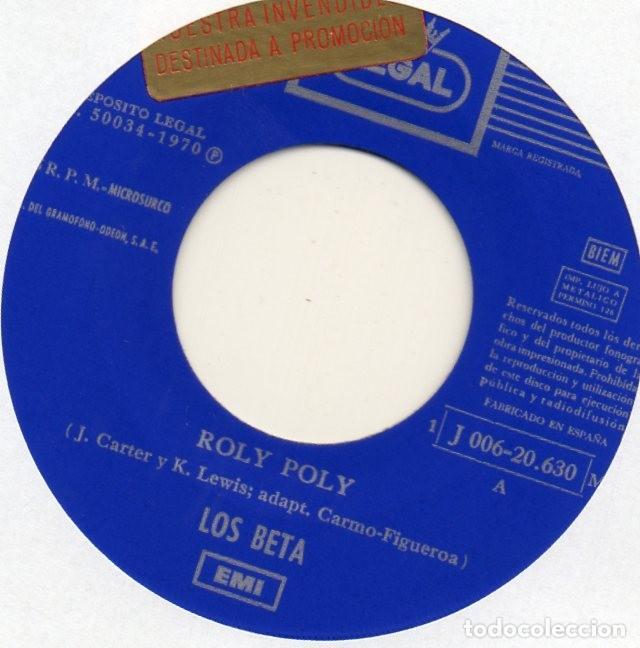 Discos de vinilo: BETA, LOS, SG, ROLY POLY + 1, AÑO 1970 - Foto 3 - 62265000