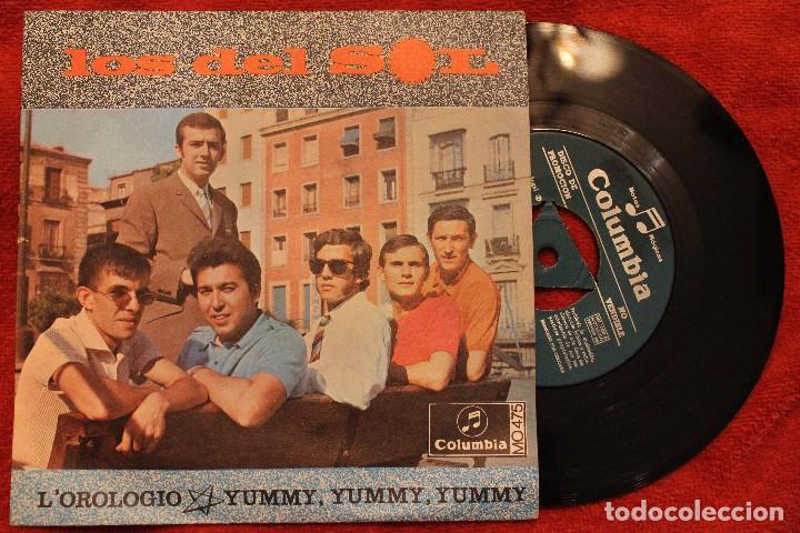 LOS DEL SOL -L'OROLOGIO / YUMMY, YUMMY, YUMMY-1968 PROMO 7 SINGLE(NM/NM) D (Música - Discos de Vinilo - Maxi Singles - Grupos Españoles 50 y 60)
