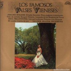Discos de vinilo: LOS FAMOSOS VALSES VIENESES - EL BELLO DANUBIO / VINO , MUJERES Y CANCIONES. LP DISCOPHON DE 1964. Lote 62270604