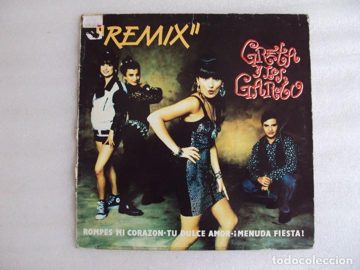 GRETA Y LOS GARBO, REMIX. MAXI SINGLE EDICION ESPAÑOLA FONOMUSIC 1991 (Música - Discos de Vinilo - Maxi Singles - Grupos Españoles de los 90 a la actualidad)