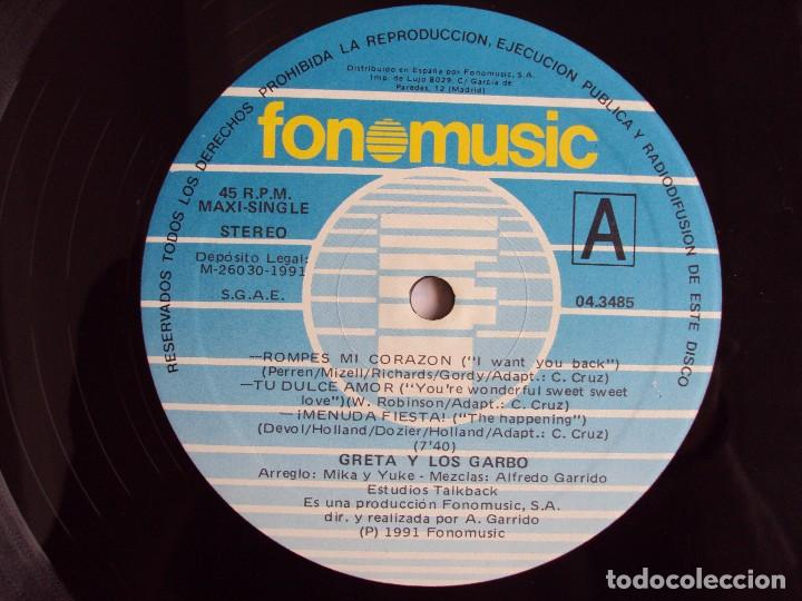 Discos de vinilo: GRETA Y LOS GARBO, REMIX. MAXI SINGLE EDICION ESPAÑOLA FONOMUSIC 1991 - Foto 6 - 62278932