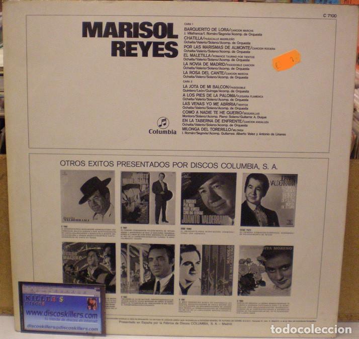 Discos de vinilo: Marisol Reyes - LP Recopilatorio del Sello Columbia (C 7100) - 1971 - Foto 2 - 62279736