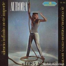 Discos de vinilo: AURORA Y LOS 5 AGUILAS SILENCIO INFINITO EP 45 R@RO DE VINILO DE 1966 SESION. Lote 62288436